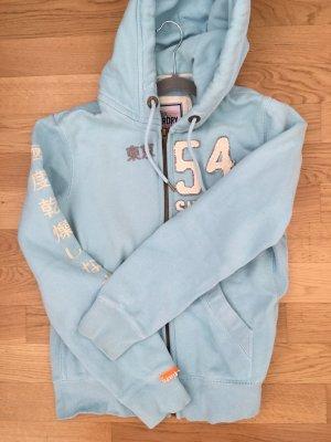 Türkise sweater Jacke von Superdry, Größe large. Neuwertig, nur 1x getragen