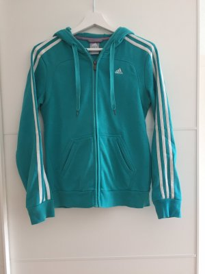 Adidas Giacca fitness bianco-turchese