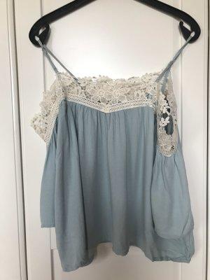 H&M Camisa recortada blanco-azul bebé