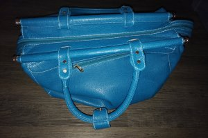 Weekender Bag turquoise-light blue imitation leather