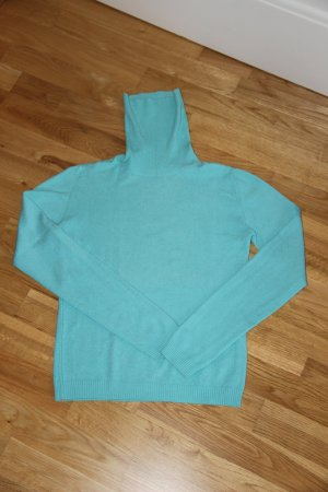 Zara Pull-over à col roulé turquoise coton