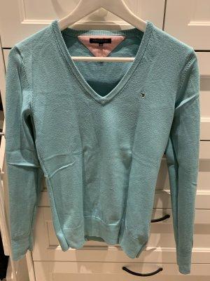 Tommy Hilfiger V-Neck Sweater turquoise-mint