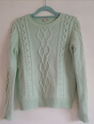 Gap Cable Sweater baby blue mixture fibre