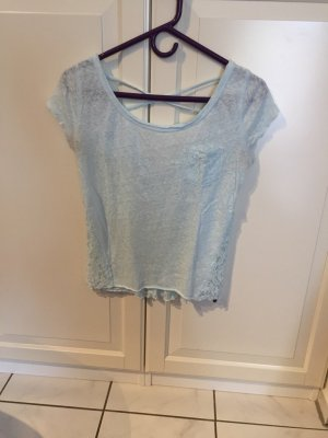 Abercrombie & Fitch T-Shirt baby blue cotton