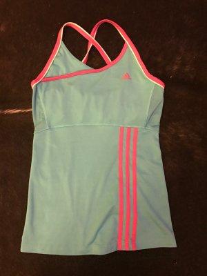 Adidas Sporttop roze-blauw Gemengd weefsel