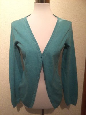 türkises Jäckchen / Cardigan / Strickjacke von Colours of the World / Takko - Gr. S