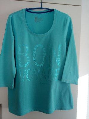Türkises Langarm-T-Shirt von Bonita Gr.L