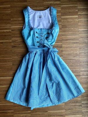 Spieth & Wensky Dirndl turquoise polyester