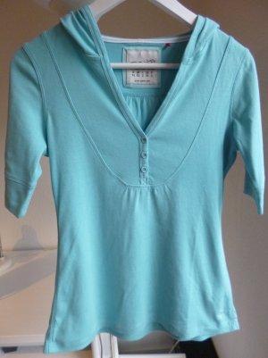 Türkises Shirt / Top mit Kaputze