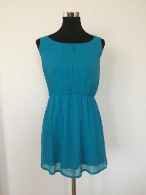Atmosphere Vestido de chifón turquesa-azul claro tejido mezclado