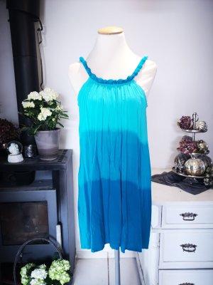Türkises Strandkleid von Calzedonia Einheitsgröße Sommerkleid Oversizekleid türkis hellblau blau Sommer Kleid Midikleid Midi