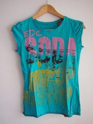 Türkises T-Shirt mit Aufdruck