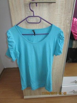 Türkises T-shirt, Puffärmel