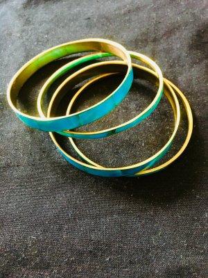 Türkisfarbene Armreifen (4 Stück)