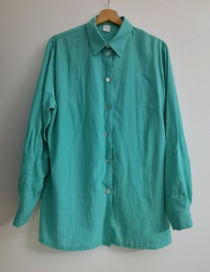 Blusa-camisa turquesa-petróleo