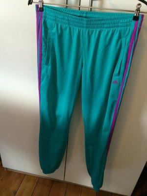 türkisfarbene Jogginghose von adidas