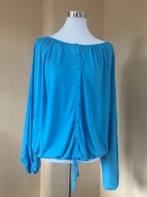 24 Hours Tunic Blouse light blue viscose