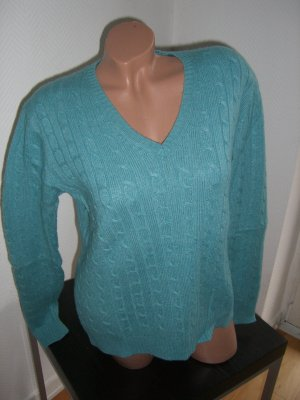 Cable Sweater turquoise