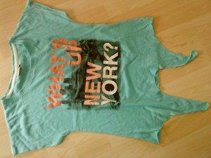 Blue Seven T-shirt turkoois-zalm Katoen