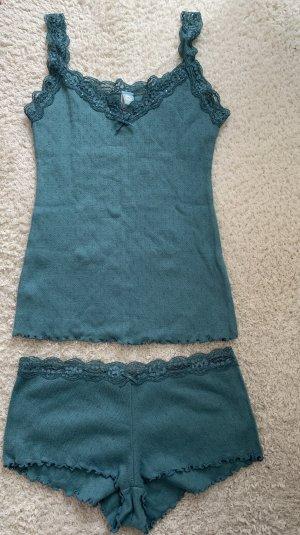 Lingerie Set turquoise-petrol