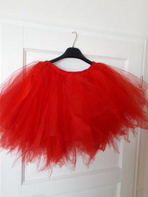 Falda de tul rojo