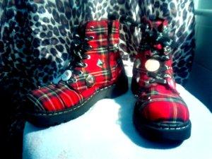 Tuk Boots Tartan Punk Gr. 38