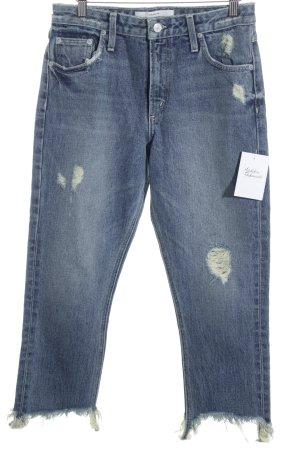 Tularosa High Waist Jeans graublau Destroy-Optik