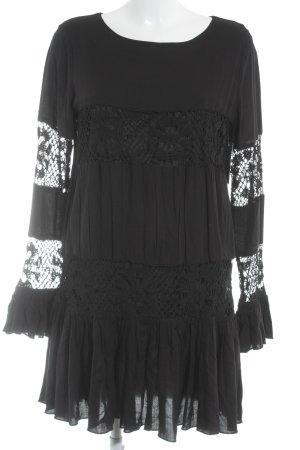 Tularosa Peplum jurk zwart casual uitstraling