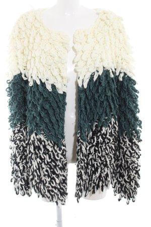 Tularosa Strickjacke wollweiß-kadettblau Streifenmuster Casual-Look