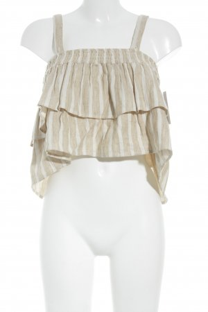 Tularosa Trägertop beige-weiß Streifenmuster Street-Fashion-Look