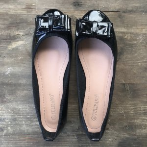 Tulipano Patent Leather Ballerinas black