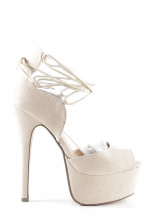Tulipano Lace-up Pumps cream party style