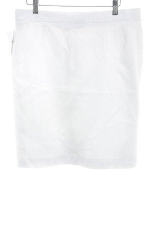 Tullo Falda de talle alto blanco estilo «business»