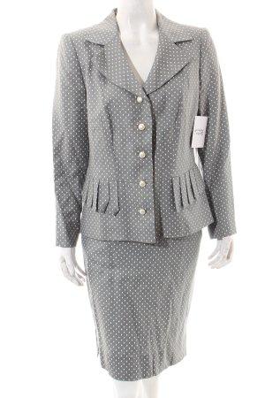 Tullo Traje para mujer gris-blanco estampado a lunares look casual