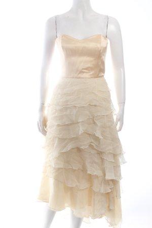 Tulpen Abendkleid blassgelb Eleganz-Look