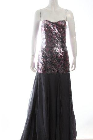Tulpen Abendkleid magenta-anthrazit Paillettenverzierung