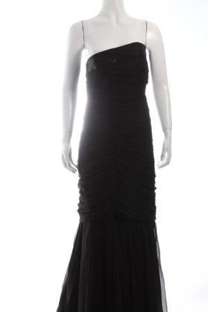 Tulpen Abendkleid schwarz Paillettenverzierung