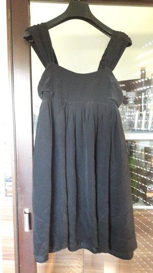 Tulpen Kleid Babydoll Empire Seide Schwarz 38 Minikleid