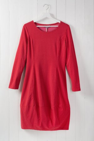 Jersey Dress brick red-red cotton