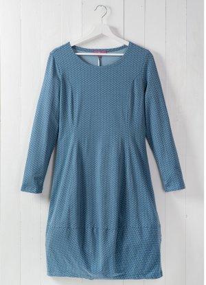 Jersey Dress steel blue-blue cotton