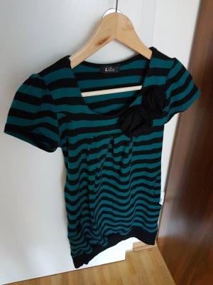 100 Blusa de túnica negro-verde oscuro