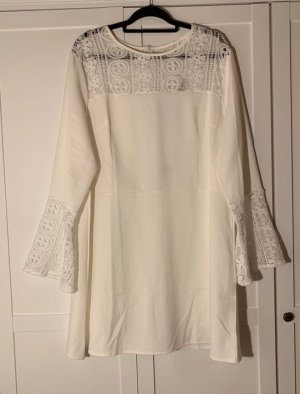asos curve Blusa a tunica bianco-bianco sporco