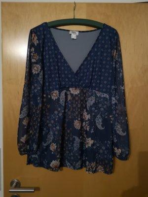 b.p.c. Bonprix Collection Tunique-blouse bronze-bleu