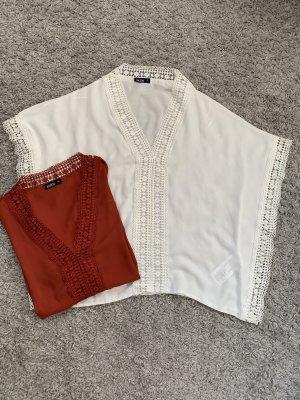Strandkleding wit-roodbruin