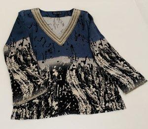 Amor & Psyche Blusa de túnica multicolor Seda