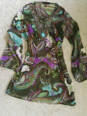 Malvin Vestido playero violeta azulado-verde oliva