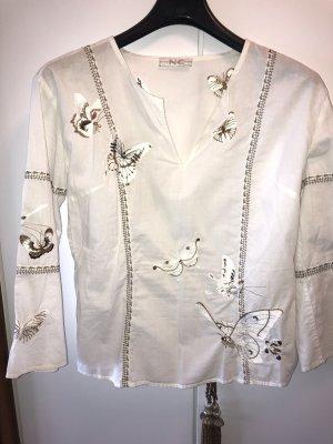 Nice Connection Tunique-blouse blanc-bronze