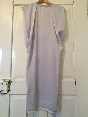 Vestido tipo túnica color plata-gris claro