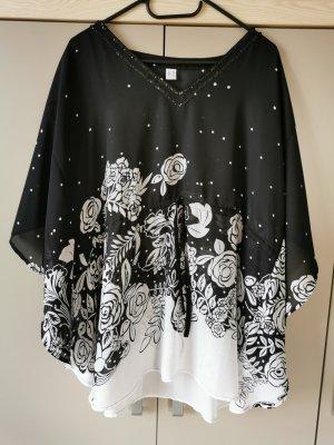 Tunic Blouse white-black