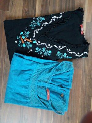 Edc Esprit Tunique de plage noir-bleuet